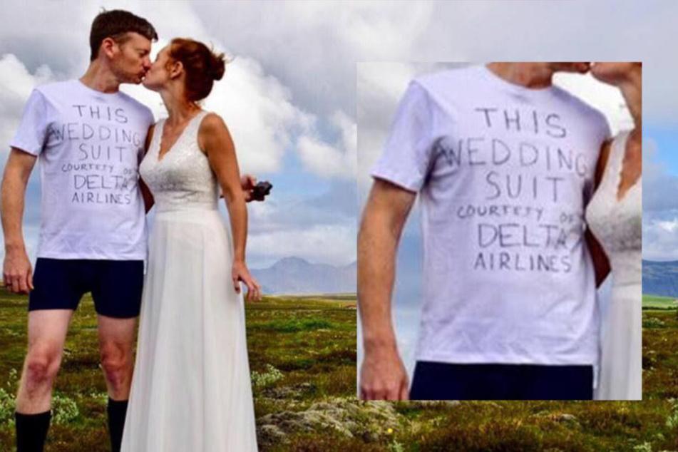Airline verschlampt Koffer mit Anzug: Mann muss in Unterhosen heiraten