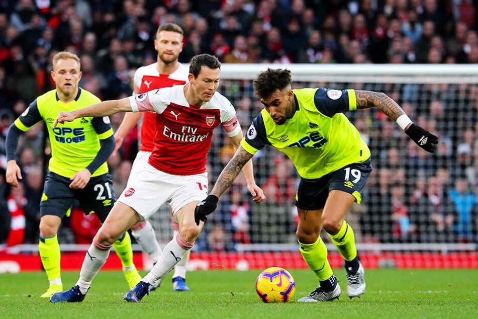 Der Vertrag von Stephan Lichtsteiner (vorne-links) beim FC Arsenal London wurde in diesem Sommer nicht verlängert.
