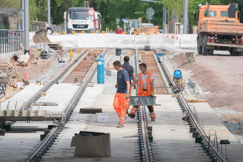 Insgesamt werden 2316 Meter neue Gleise verlegt.