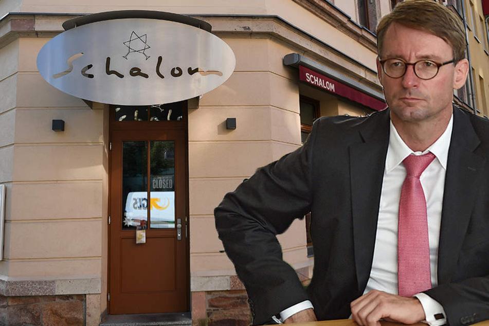 Nach Attacke auf jüdisches Lokal: Innenminister Wöller trifft Wirt
