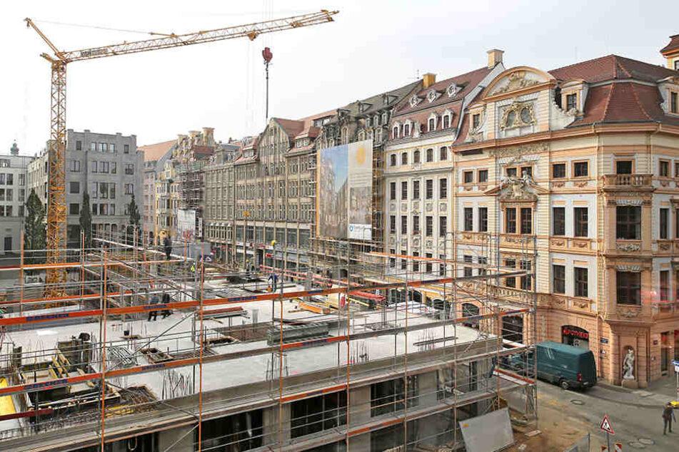 Die Wohnungsneubauten in Sachsen und Sachsen-Anhalt decken den Bedarf nicht ab (hier Neubau am Brühl, Leipzig)