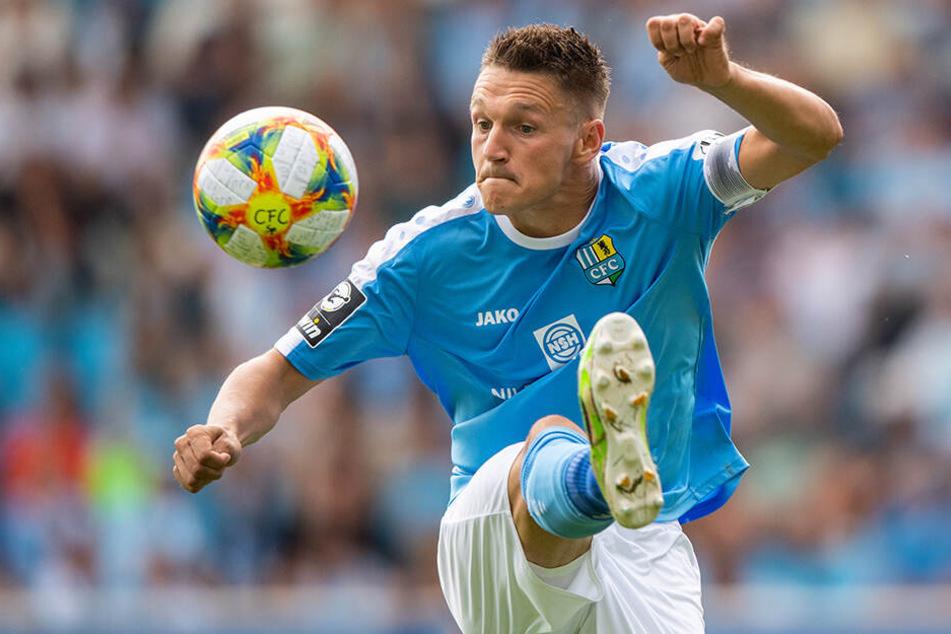 Daniel Frahn spielte insgesamt drei Jahre für den Chemnitzer FC, schoss die Himmelblauen letztes Jahr zum Aufstieg in Liga Drei.