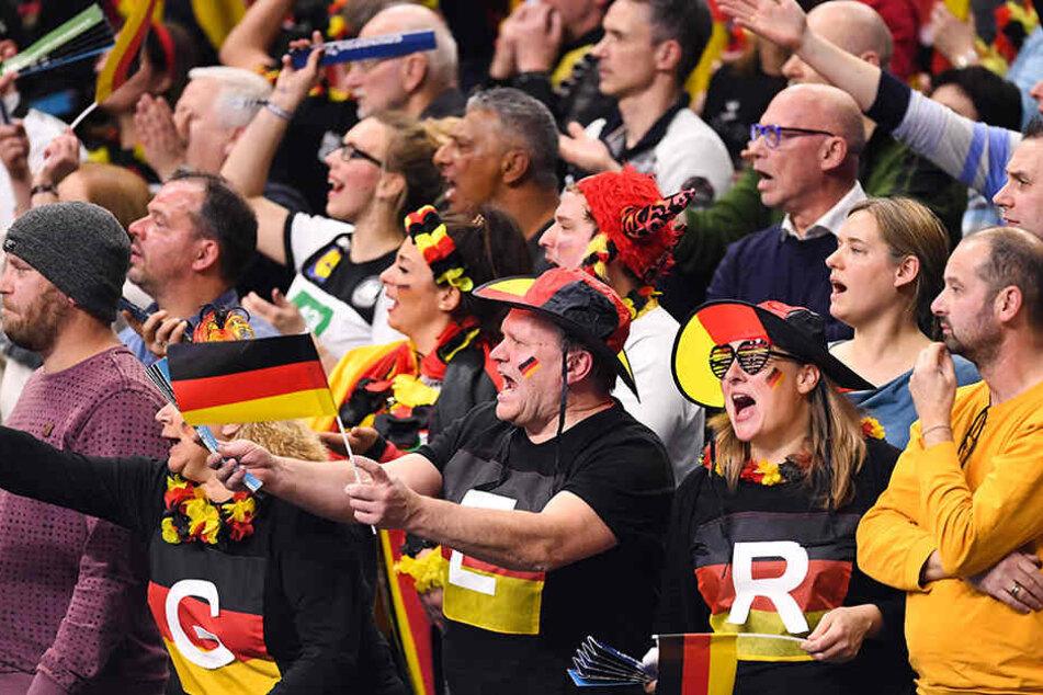 Auf den Rängen fieberten die deutschen Fans ordentlich mit ihren Lieblingen.