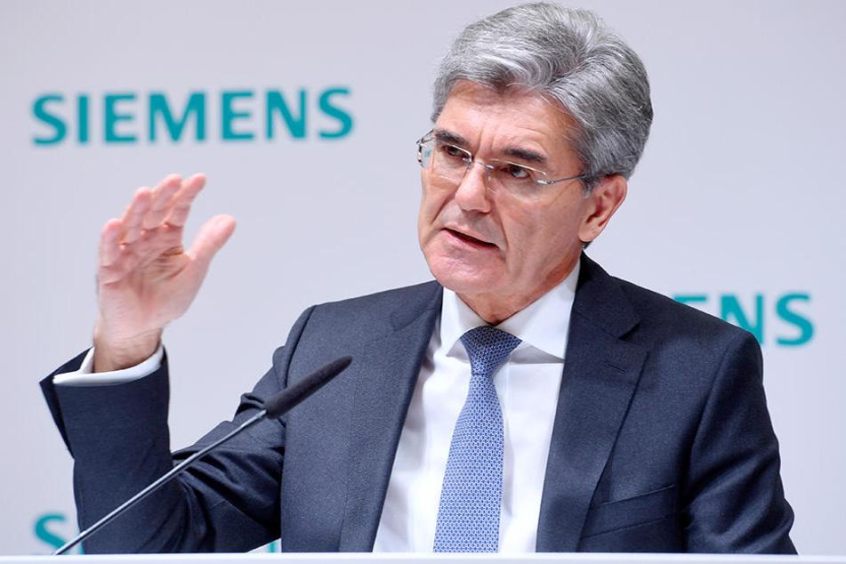 Hoffnungs-Träger: Siemensboss Joe Kaeser (60).