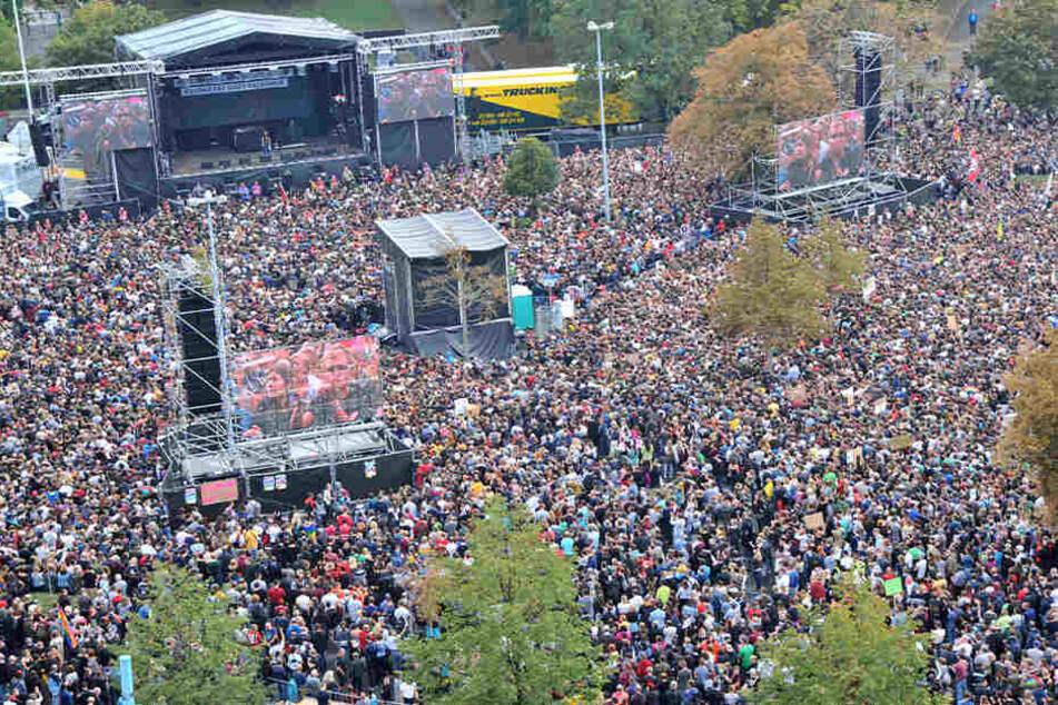 Bei dem #wirsindmehr-Konzert im September 2018 waren 65.000 Besucher dabei.