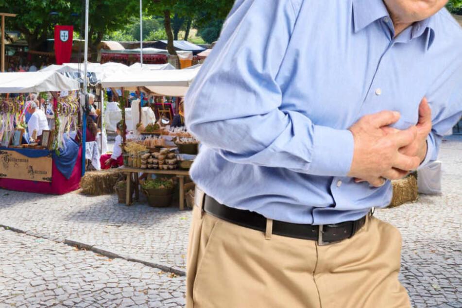 Ob der Mann an einer Herzattacke starb oder durch den Aufprall, ist noch nicht bekannt (Symbolbild).