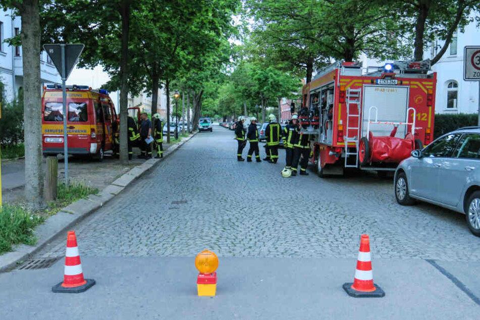 In der Kurt-Eisner-Straße in Zwickau brannte eine Küche komplett aus.