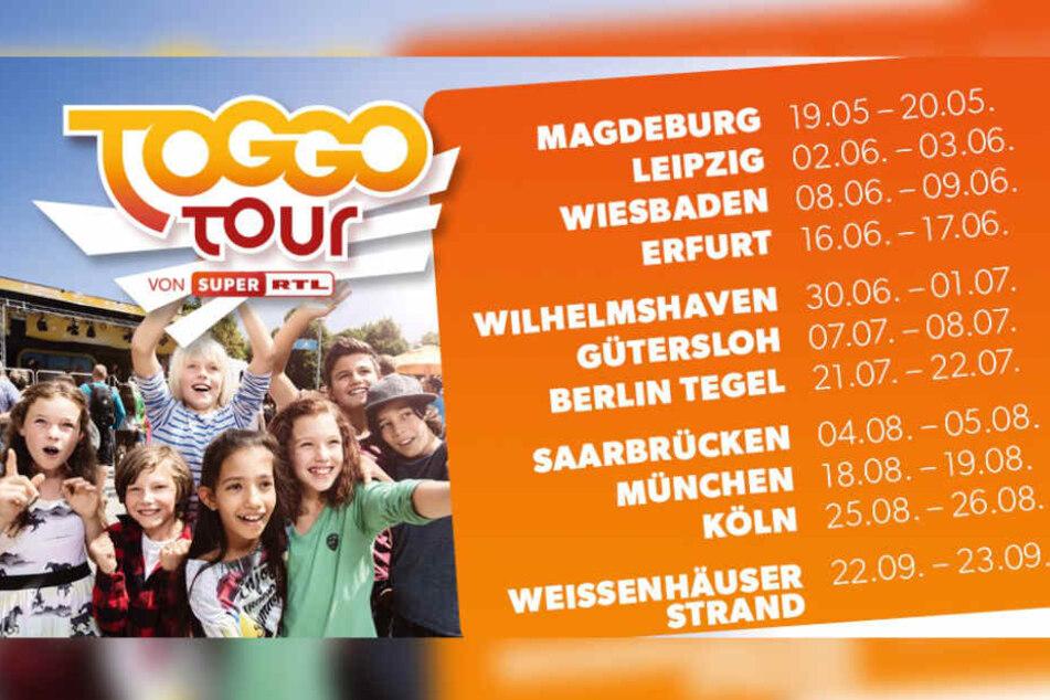 SUPER RTL geht auf große TOGGO Tour durch Deutschland.