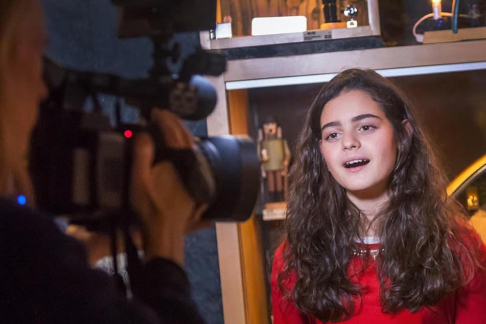 Für Sissi (12) war es bereits der siebte Dreh für eines ihrer  Weihnachtslieder.