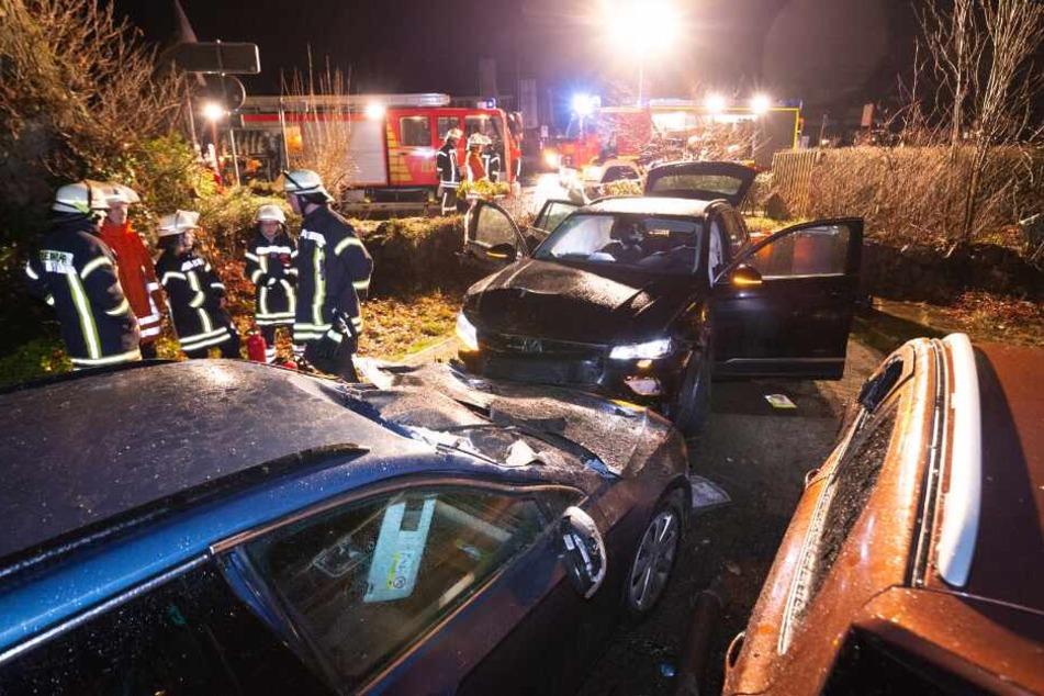 Autofahrer sorgt für Verwüstung in Wohngebiet und haut ab