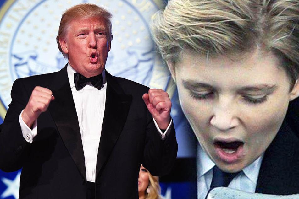 Gelangweilt vom Vater? Trump-Sohn Barron schläft schon wieder fast ein
