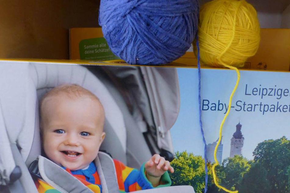 """Seit 2012 bekommen die Leipziger für jedes Neugeborene eine """"Babybox"""" geschenkt."""