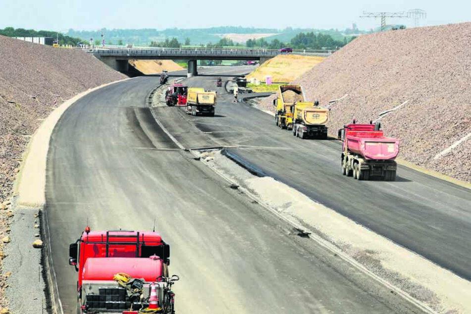 Bauarbeiten für den neuen A72-Abschnitt bei Borna: Für Straßenbau wird immer wieder enteignet.