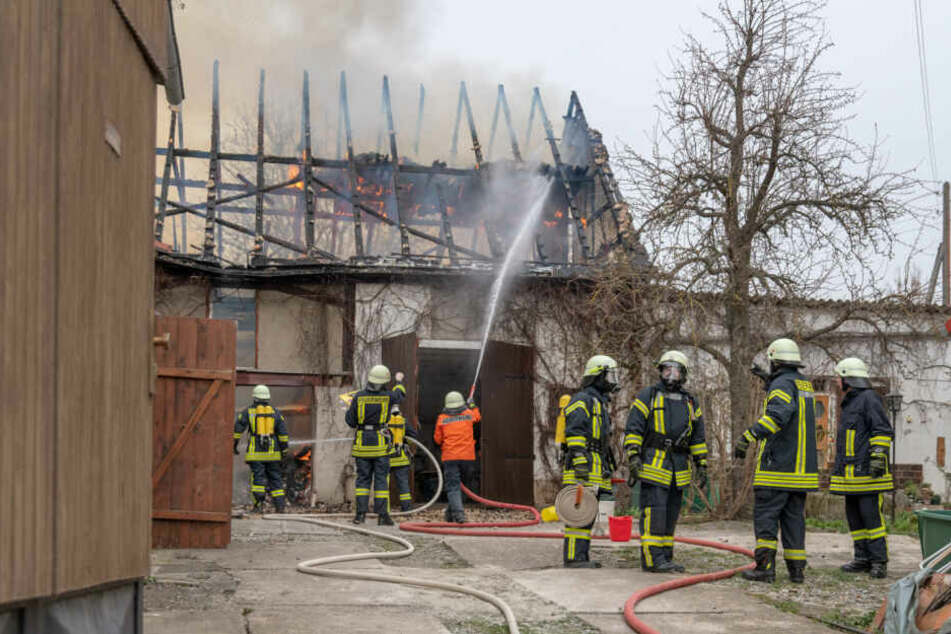 Die Scheune wurde bei dem Brand komplett zerstört.