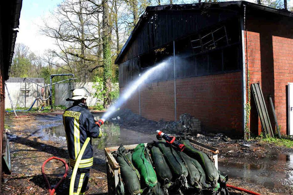 Die Rauchwolken leiteten die Einsatzkräfte zum Brandort.