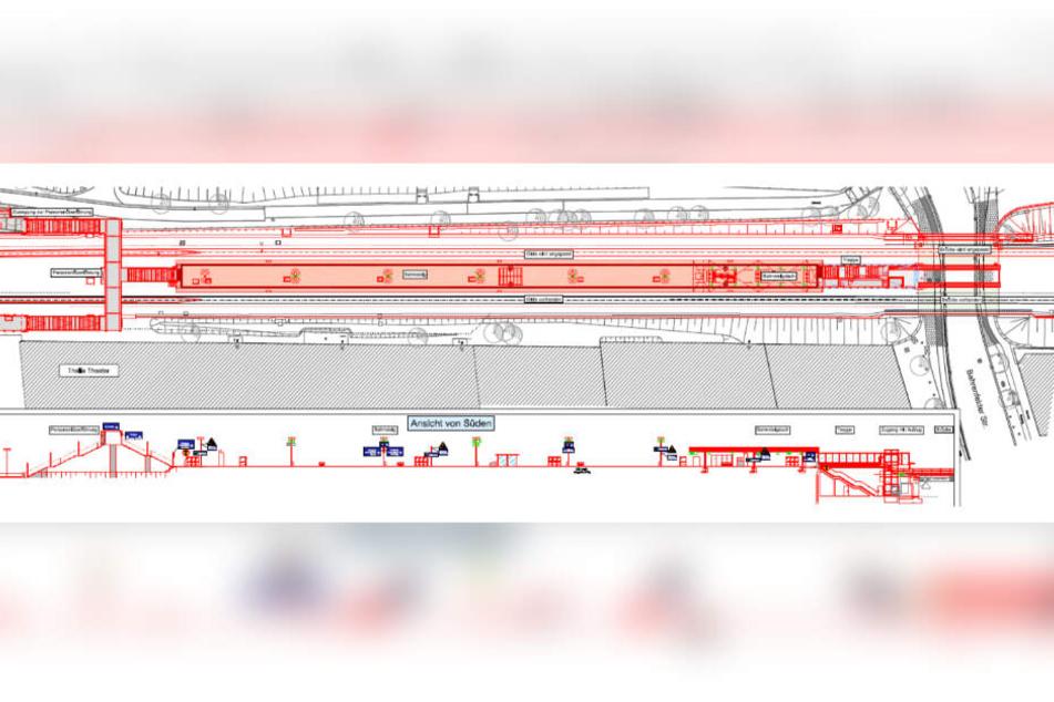 So gestaltet sich voraussichtlich der Bau der neuen Haltestelle.