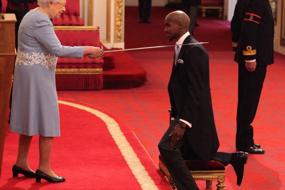 Farah wurde im November von der Queen zum Ritter geschlagen.