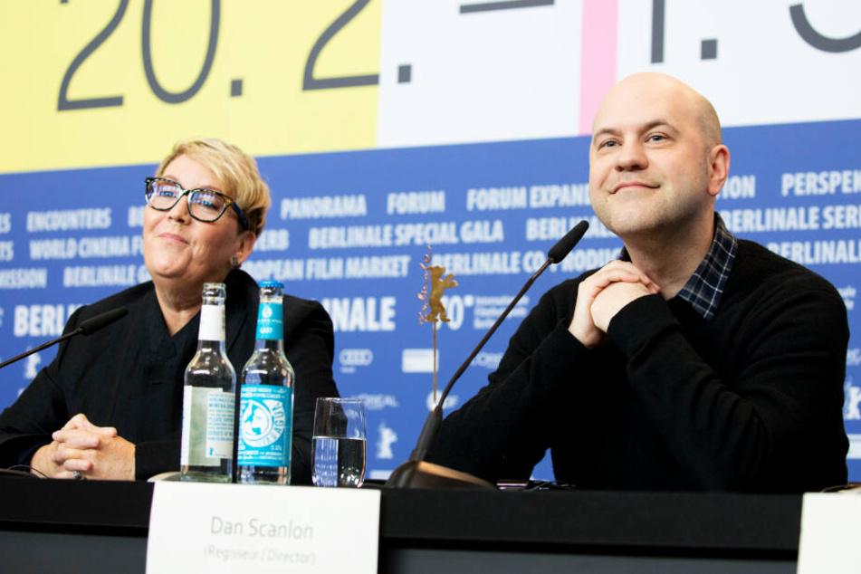 Regisseur Dan Scanlon (r.) und Produzentin Kori Rae bei der Berlinale-Pressekonferenz.
