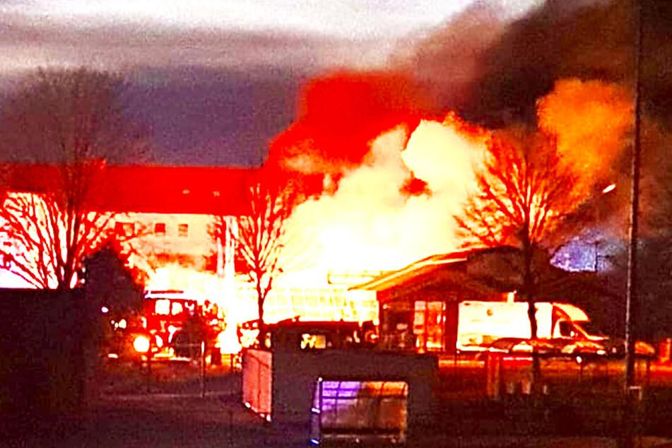 Der Brand in der Gärtnerei war auf weite Flur zu sehen.
