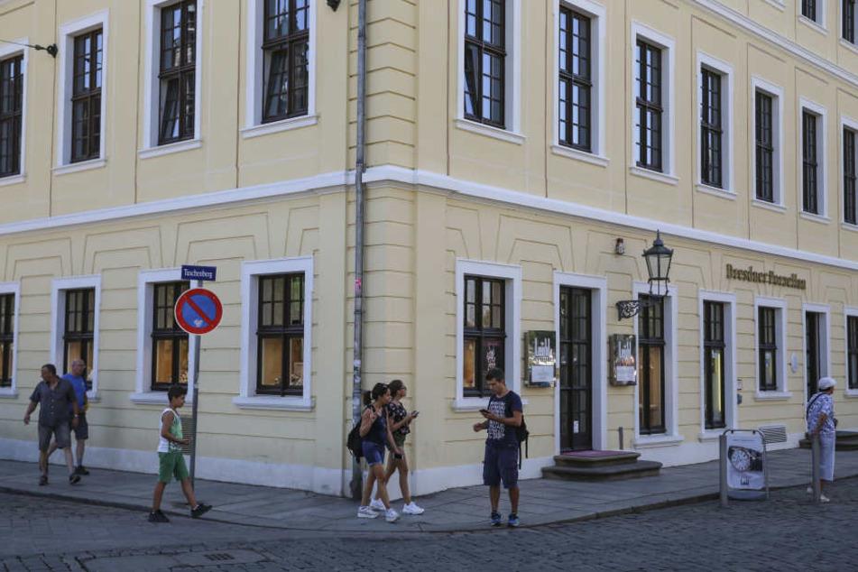 Zum dritten Mal erwischte es Juwelier Leicht im Taschenbergpalais.
