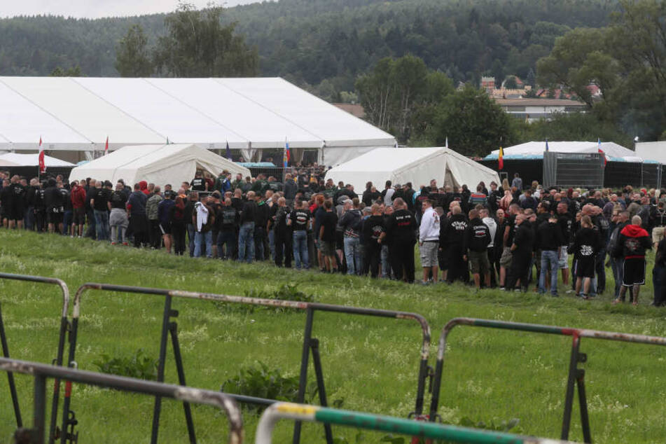 Tausende Neonazis aus ganz Europa waren nach Thüringen gekommen. (Archivbild)