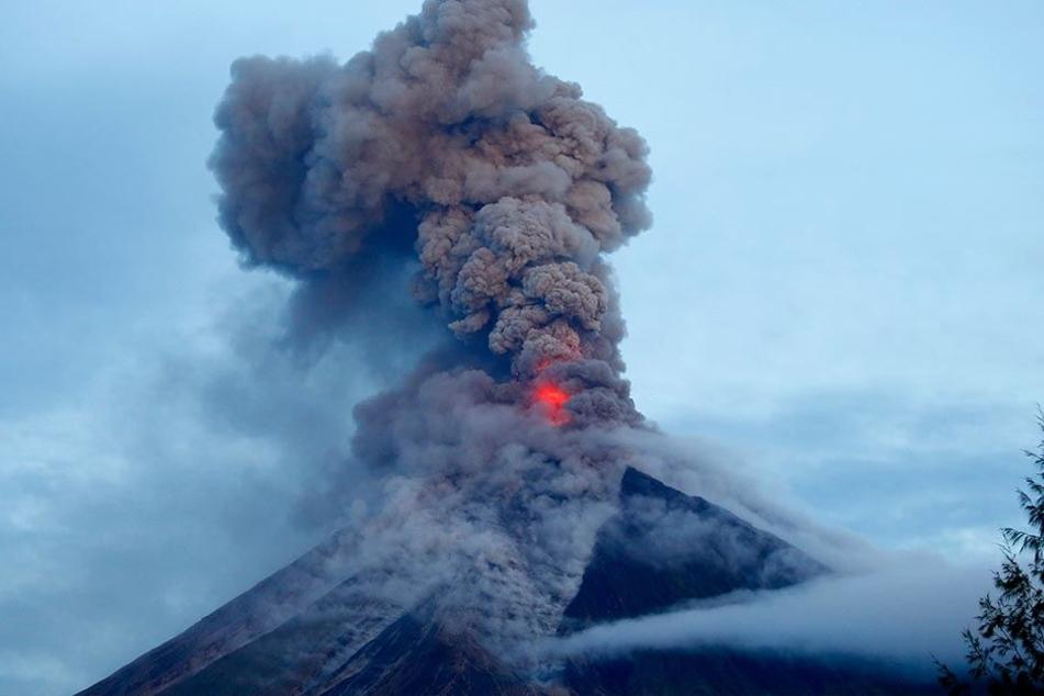 Der Vulkan Mayon auf den Philippinen.