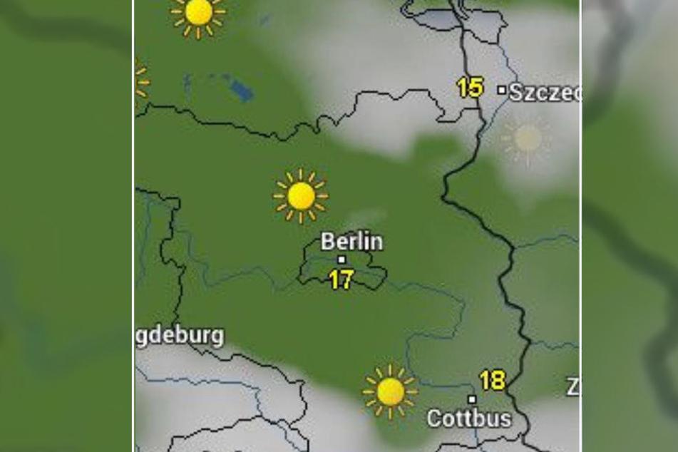 Laut wetter.online scheint am Herrentag die Sonne über Beerlin.