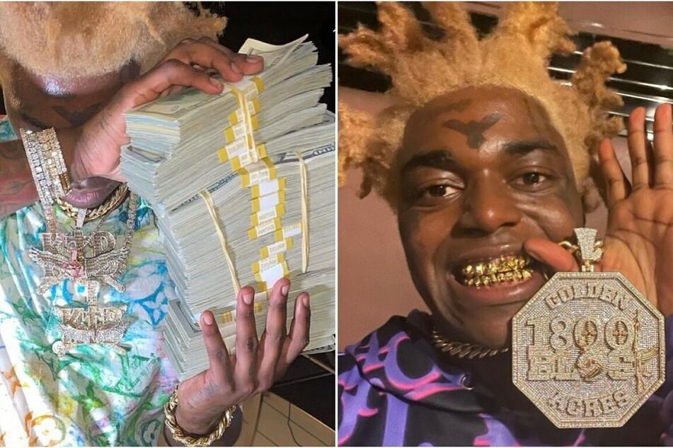 Rapper Kodak Black dumps stacks of real money in the ocean as bizarre beef escalates!
