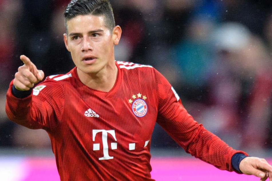 Bayern-Star James Rodríguez konnte gegen den FSV Mainz 05 insgesamt drei Treffer erzielen.