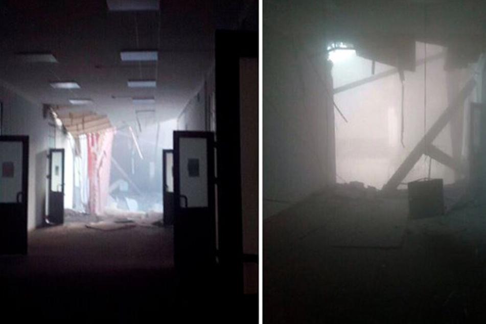 Zeugen ist es gelungen, Fotos im Inneren des Gebäudes zu machen.