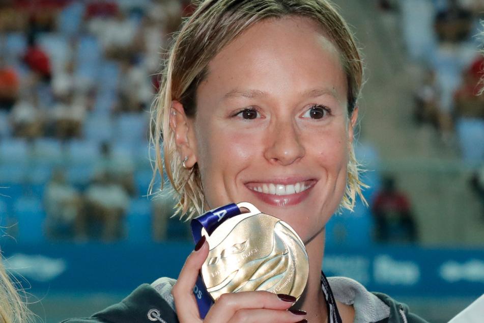 24. Juli 2019 in Südkorea: Bei der Schwimm-Weltmeisterschaft gewann Federica Pellegrini im 200 Meter Freistil der Frauen die Goldmedaille.