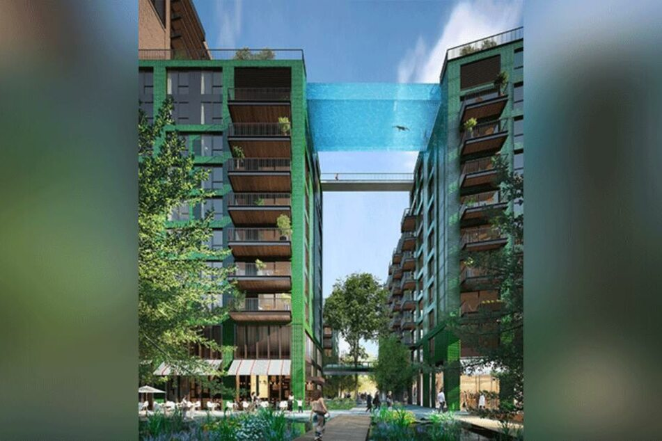 2000 neue Luxus-Wohnungen warten in London mit einem ganz besonderen Highlight auf - dem ersten Himmels-Pool der Welt.
