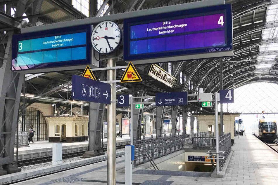 Reisende stehen nächste Woche in Dresden-Neustadt oft vor leeren Gleisen.