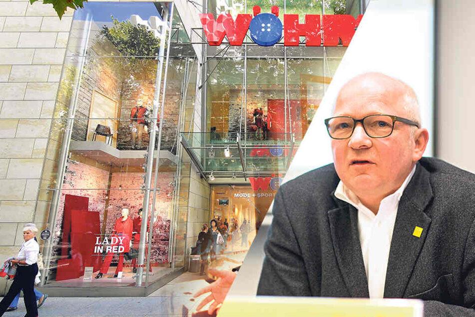 Auch Dresdens City-Manager Jürgen Wolf (55) sorgt sich um die Dresdner Filiale von Wöhrl.