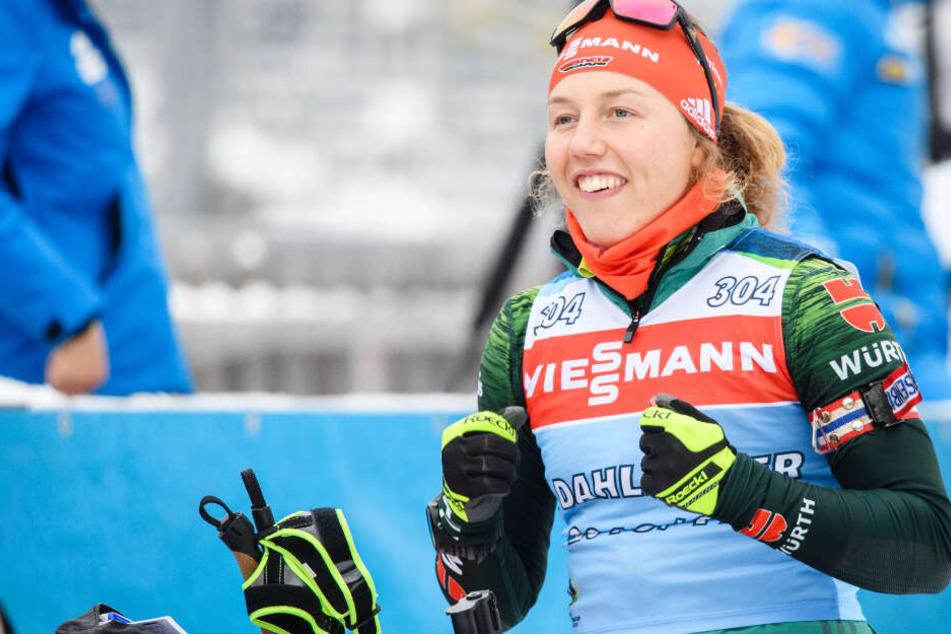 Laura Dahlmeier peilt beim Heim-Weltcup in Ruhpolding das Podest an. (Archivbild)