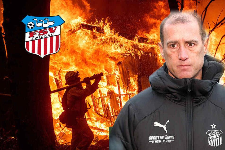 Wegen Waldbränden in Kalifornien: FSV-Coach Enochs im Zwiespalt der Gefühle