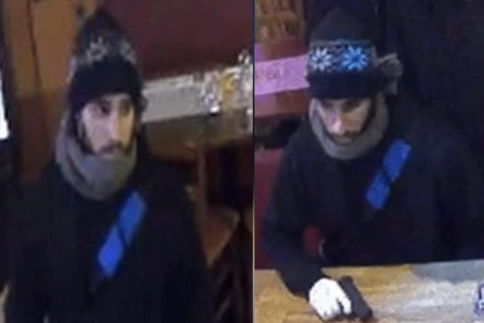 Mit diesen Fotos sucht die Polizei nach dem Tatverdächtigen.