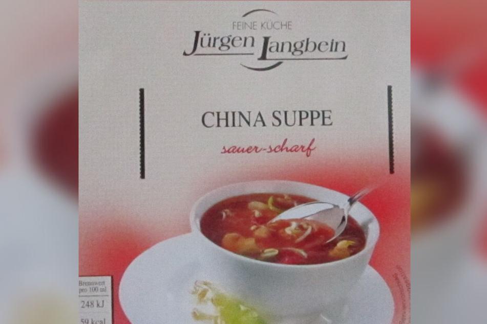 Diese Suppe ist betroffen.