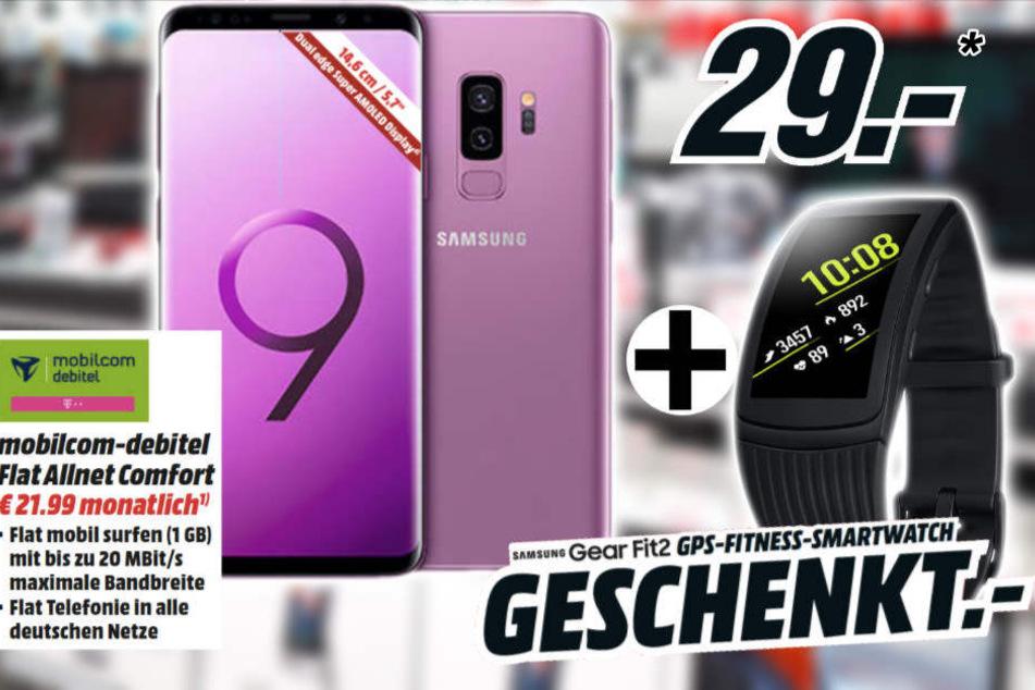 Bis zum 10. Dezember bekommt Ihr zum Galaxy S9 eine Smartwatch für 149 Euro geschenkt!