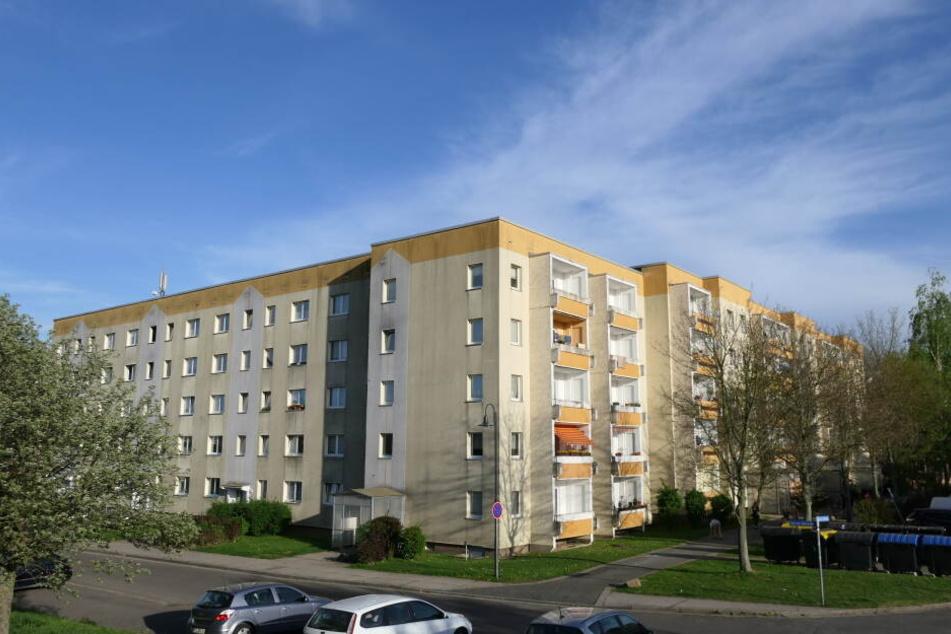 """In diesen Wohnblöcken an der Straße """"An der Holzecke"""" in Grimma soll ab 2. Mai kein Wasser mehr laufen."""