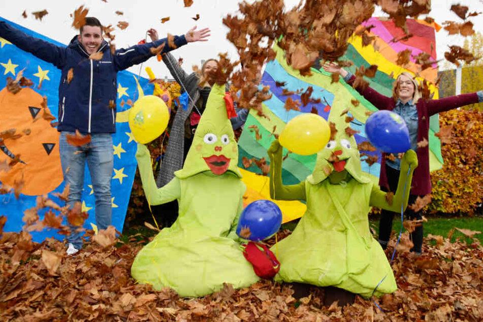 Die Maskottchen Krauti und Krautline und ihre Begleiter der Stadt Leinfelden-Echterdingen freuen sich schon auf die Besucher.