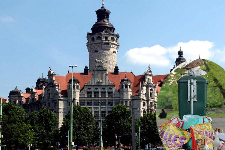 Das Müllproblem in Leipzig ist einer von sieben Punkten auf der Mängelliste des Unternehmerverbandes.