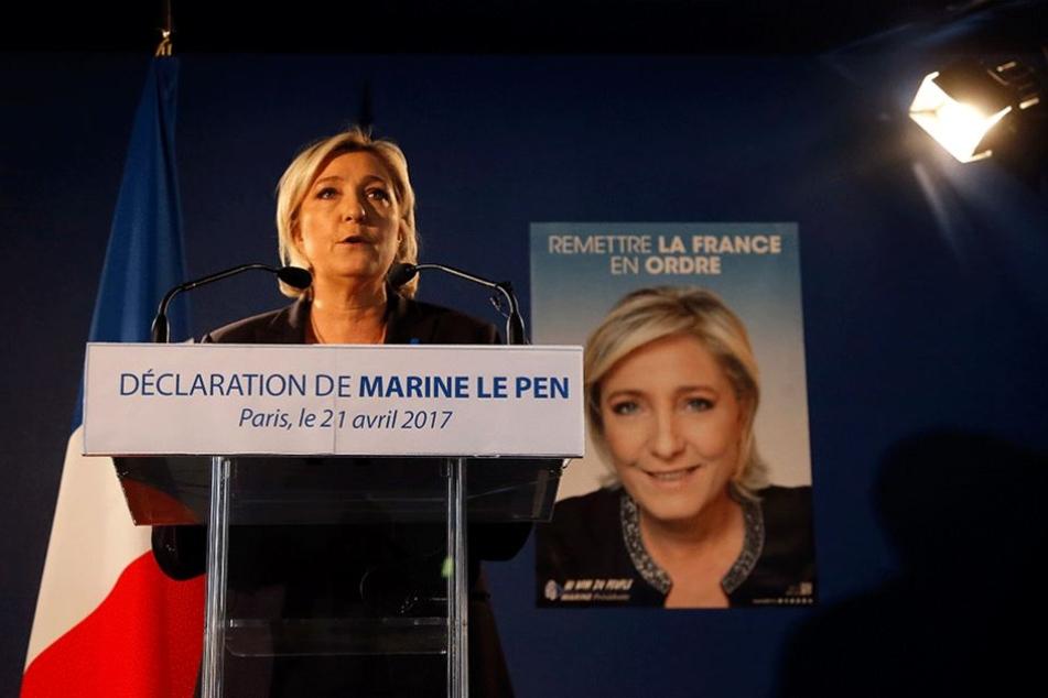 Bei einem Wahlsieg von Marie Le Pen gilt der Austritt Frankreichs aus der EU als sicher.