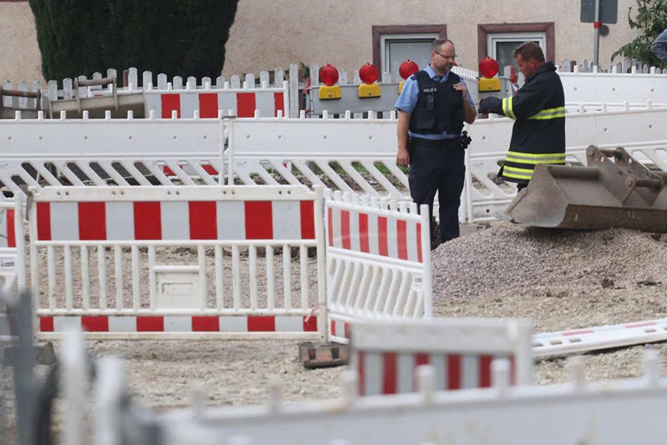Bauarbeiter finden Bombe in Baustelle