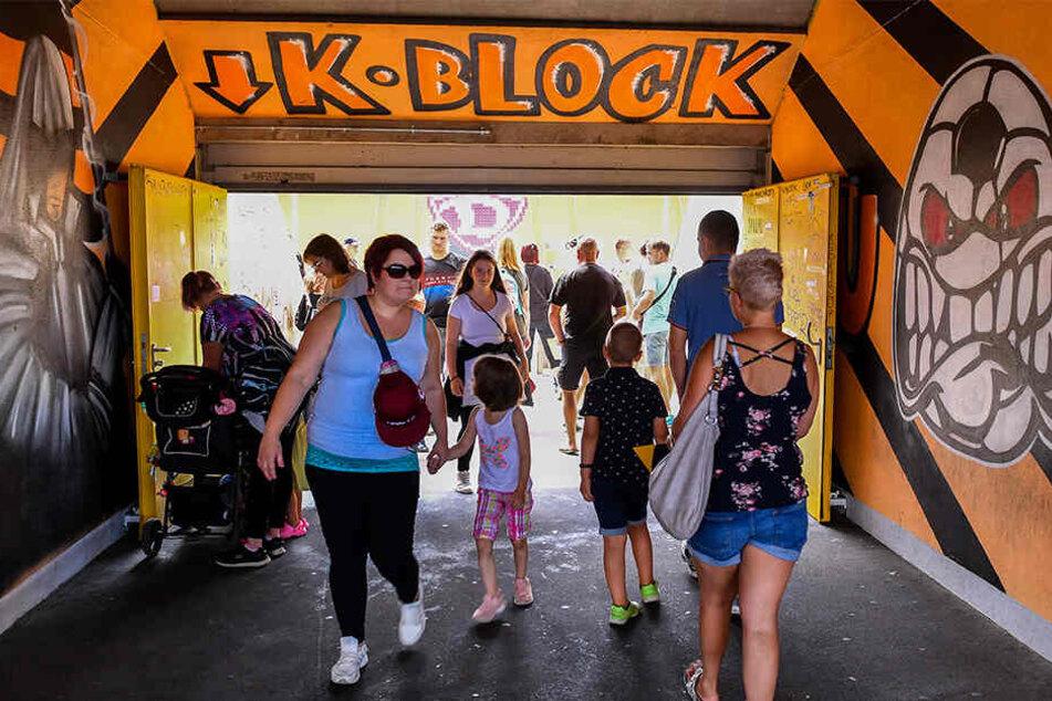 Die Fans konnten auch den legendären K-Block besichtigen.