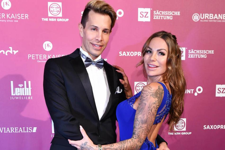 Beim SemperOpernball im Februar in Dresden waren Florian Wess und Gina-Lisa Lohfink noch unzertrennlich.