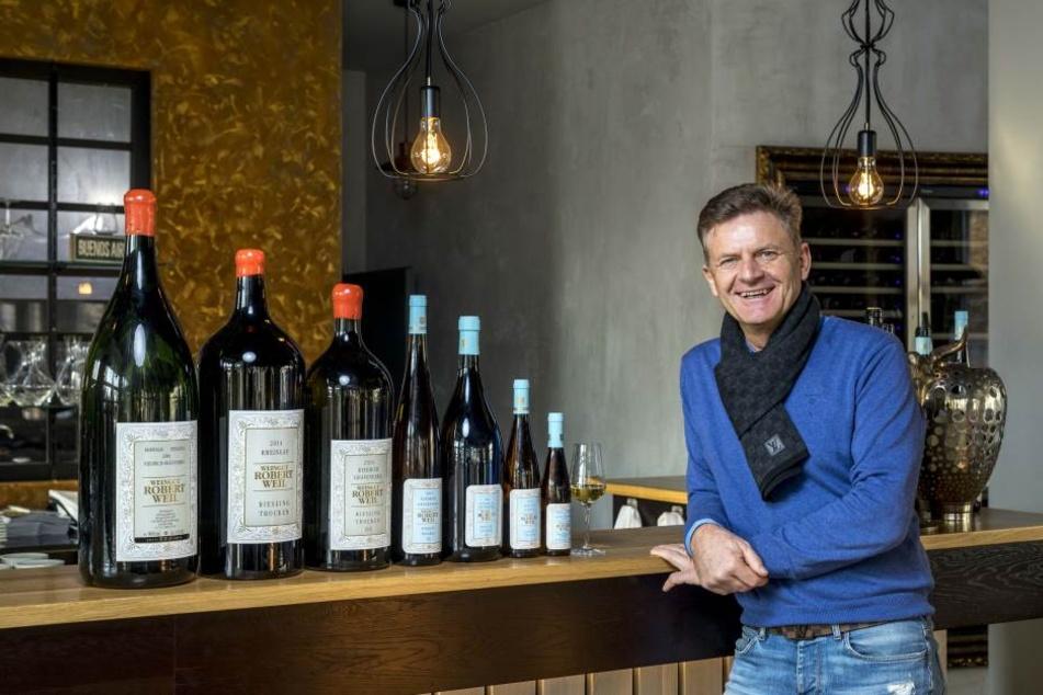 """Steffen Zuber (53) in seinem """"Estancia Beef Club"""". Der Gastronom expandiert, eröffnet 2018 ein weiteres Steakhaus in Dresden-Klotzsche."""