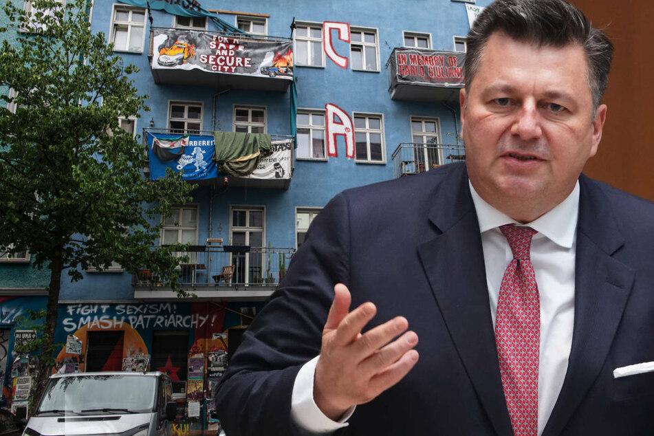 """Berlin: """"Rigaer 94"""": Innensenator Geisel bezeichnet Bewohner als """"Gangster"""""""