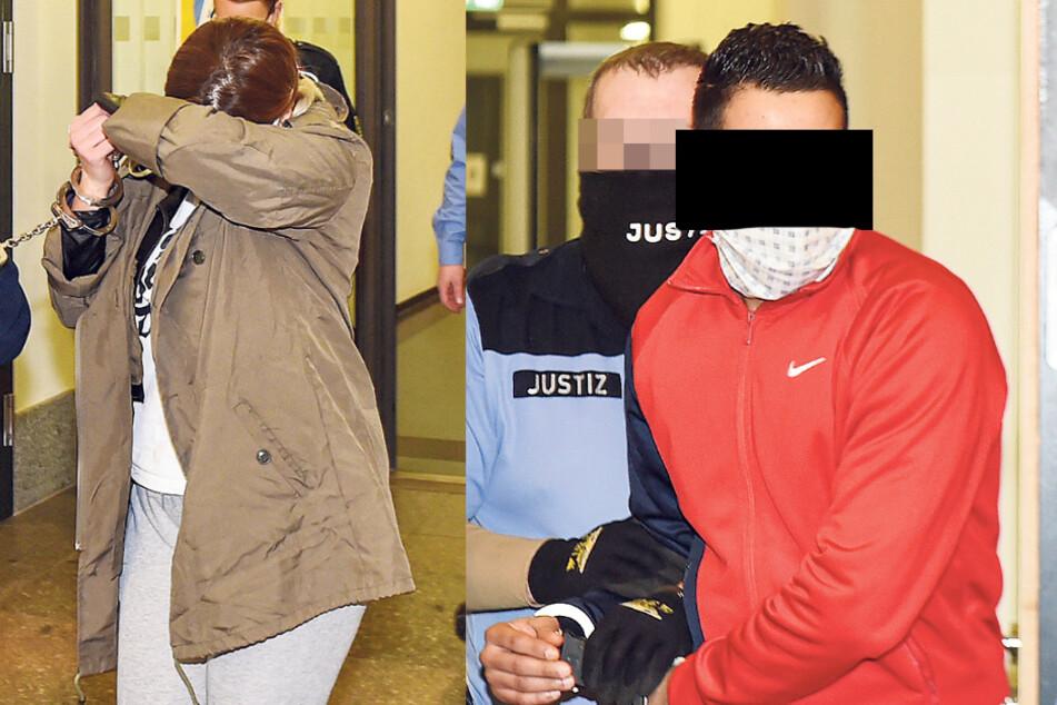 Das Ehepaar Hamza (35) und Houda (36) A. aus Tunesien sitzt gemeinsam auf der Anklagebank.