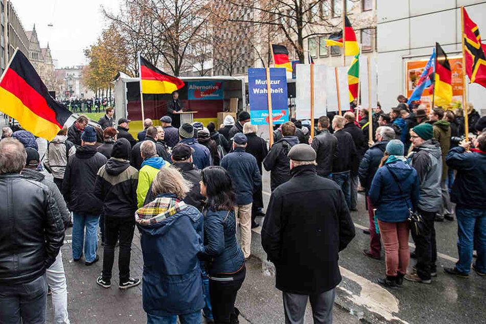 Am 5. November veranstaltete die AfD in Bielefeld ihre erste Kundgebung.